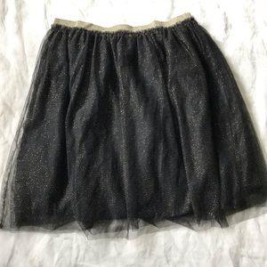 {Forever 21} 2X Black Sparkle Midi Skirt